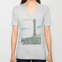 Lighthouse / Punta Lava La Palma Unisex V-Neck