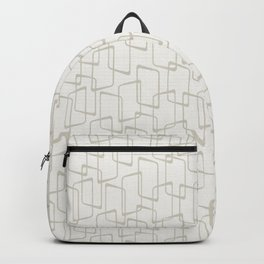 Beige / Light Warm Gray Retro Geometric Print Backpack