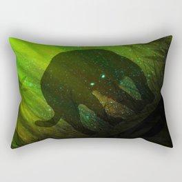 Black Panther Silhouette Rectangular Pillow