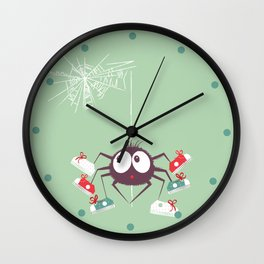 Halloween Spider Wall Clock