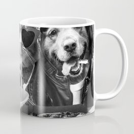 Dog Cat Drive-in With Pizza Coffee Flowers Coffee Mug