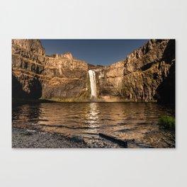 Desert Waterfall - Summer In Palouse Canvas Print