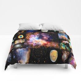 Space Galaxy Nebula Collage Comforters