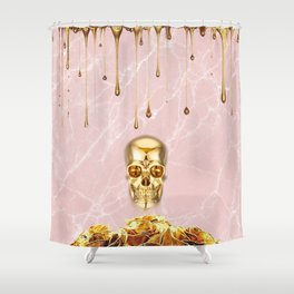 Gold skull Shower Curtain