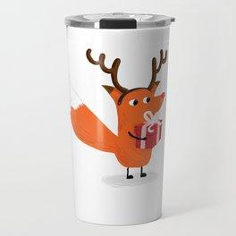 Christmas Deer Fox - The Catbears Travel Mug
