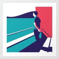 Man and Sea Art Print