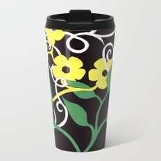 Paper Dasies Metal Travel Mug