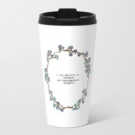 Caffeine and Inappropriate Thought Travel Mug