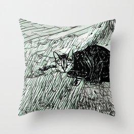 Street Cat XVIII Throw Pillow