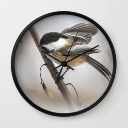 January Chickadee Wall Clock