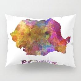 Romania in watercolor Pillow Sham