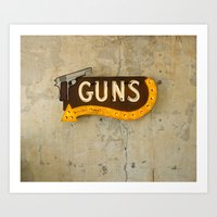 guns Art Prints featuring Guns by Roadhouse Relics