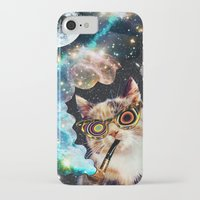 eugenia loli iPhone & iPod Cases featuring High Cat by Eugenia Loli