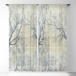 Trees nature infrared Sheer Curtain