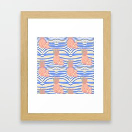 Zebra and pineapple Framed Art Print