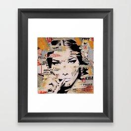 Carla Bruni is smoking hot Framed Art Print