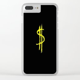 Symbol of dollar 3 Clear iPhone Case