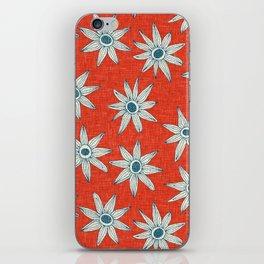 sema fire orange blue iPhone Skin