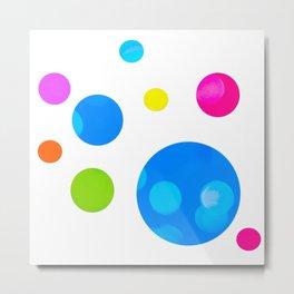 Colorful Bold Bubble Design Metal Print