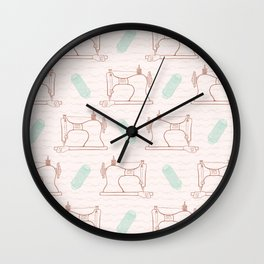 Retro Vintage sewing machine  Hand crafts Wall Clock