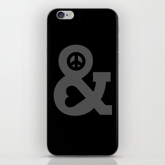Peace and Love iPhone & iPod Skin