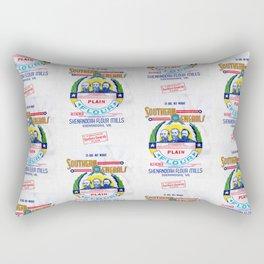 Vintage Shenandoah Flour Mills Sack Repeat Rectangular Pillow