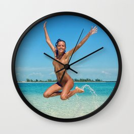 The Simple Joys of Summer Wall Clock