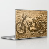 motorcycle Laptop & iPad Skins featuring Jawa motorcycle by AhaC