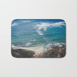 Surfer meets Sea - Diamond Head / Oahu / Hawaii Bath Mat