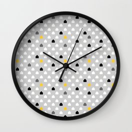 In this house grey Wall Clock