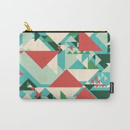Abstract geometric background. Modern overlapping large and small triangles. Carry-All Pouch