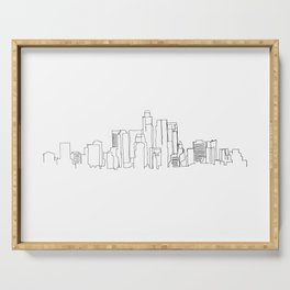 Los Angeles Skyline Drawing Serving Tray
