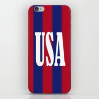 usa iPhone & iPod Skins featuring USA by Caio Trindade