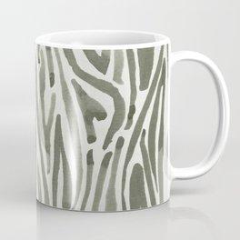Simply Bonsai Lines in Green Tea and Lunar Gray Coffee Mug