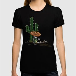 Cactus and skeleton in Sunset T-shirt