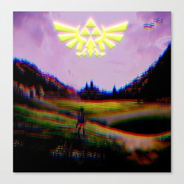 Psychedelic Tri Force v2 Canvas Print