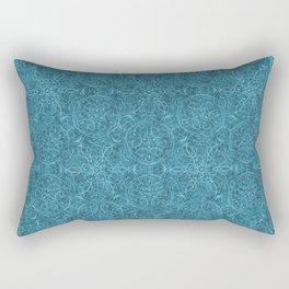 Moroccan Teal Arabesque Rectangular Pillow