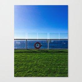 Cruise Ship Grass Area Canvas Print