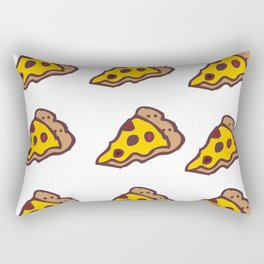 Pizza Pattern with Transparent Background Rectangular Pillow