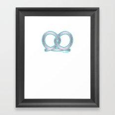 PRETZEL bone Framed Art Print