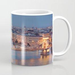 Chain Bridge at Dusk. Budapest. Coffee Mug