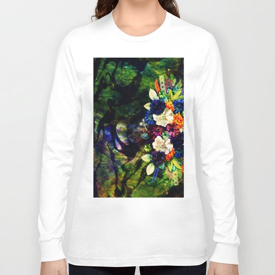 floral beauty marble Long Sleeve T-shirt
