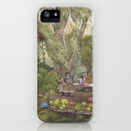 Faerie Garden Letters iPhone Case