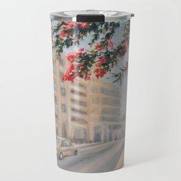 Eilat street Tel aviv_ Oil on canvas Travel Mug