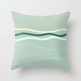 sea is pink Throw Pillow
