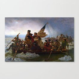 George Washington Crossing Of The Delaware River Painting Canvas Print