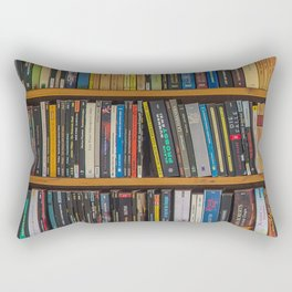 Bookshelf Books Library Bookworm Reading Pattern Rectangular Pillow
