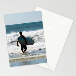 Surfer Dude At The Beach Stationery Cards