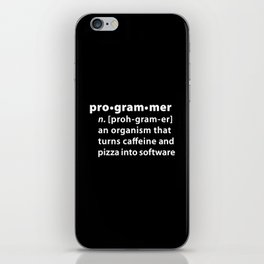 Programmer dictionary definition iPhone Skin