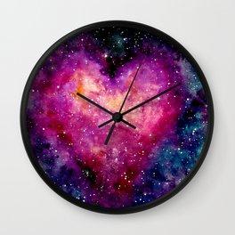 Valentine Galaxy Heart 04 Wall Clock